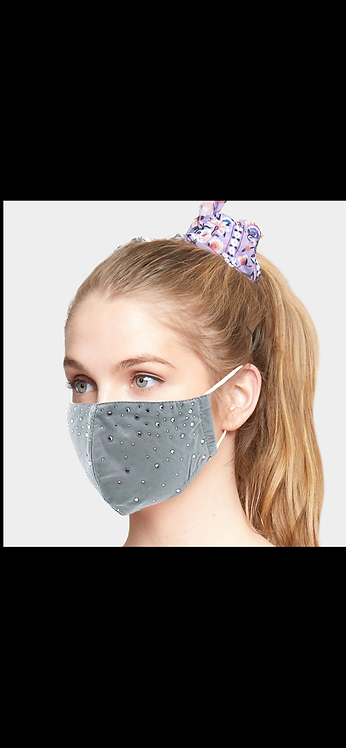 Bling Adjustable Mask - Gray
