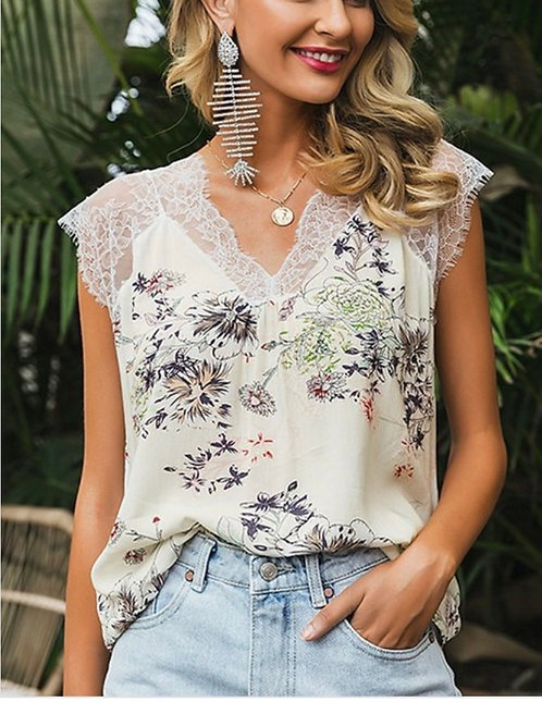 Floral Lace Sleeveless