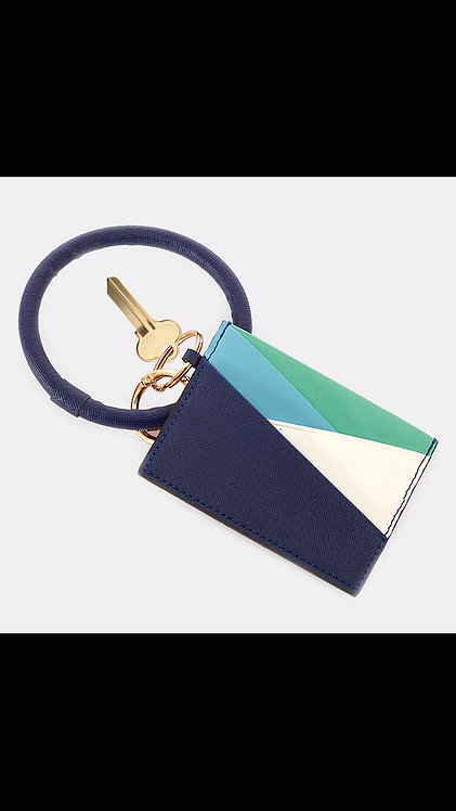 Key Ring Card Holder - Navy