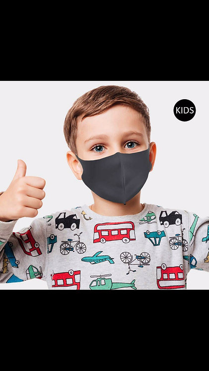 Kids Solid Mask - Charcoal