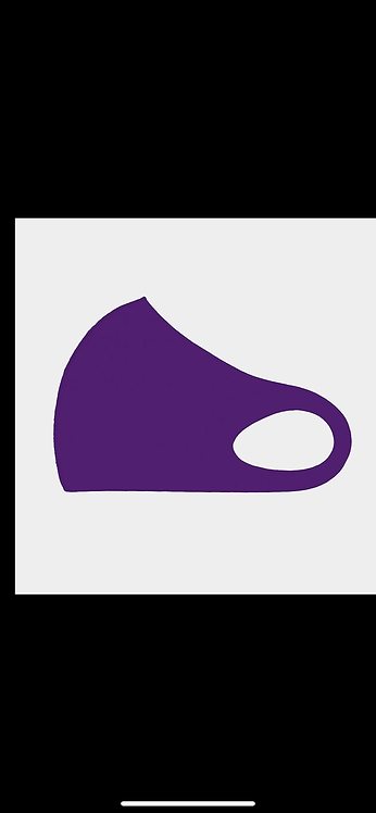 Solid Poly Mask - Purple