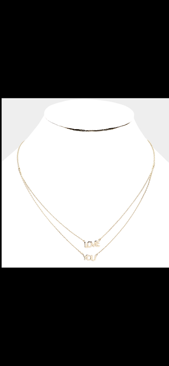 Love You Layered Necklace - Gold