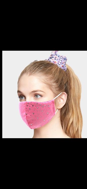 Bling Adjustable Mask - Pink