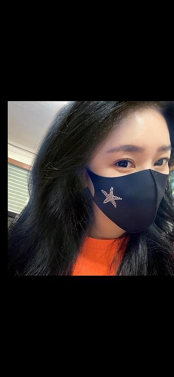 Bling Starfish Mask - Black