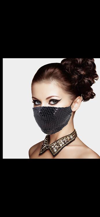 Disco Gem Adjustable Mask - Black