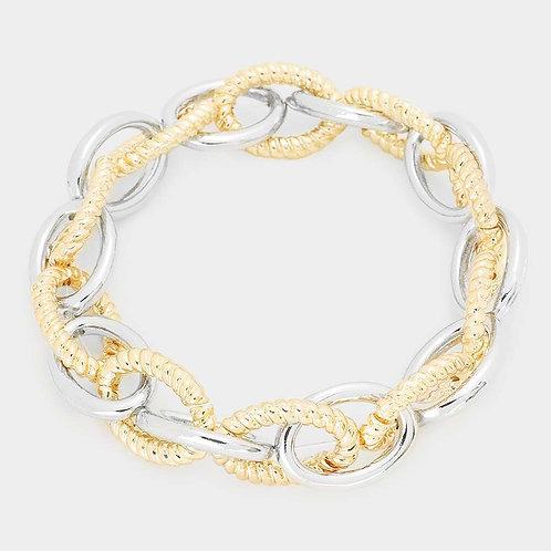 Chain Link Bracelet - Two Tone