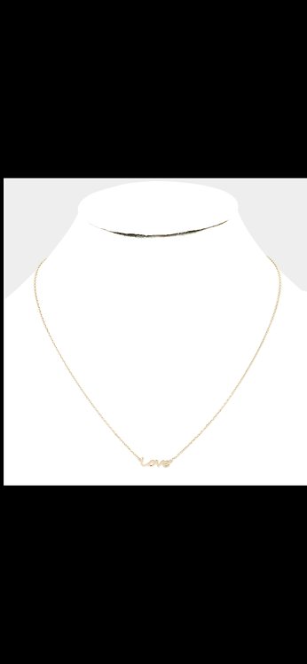 Gold Love Delicate Necklace