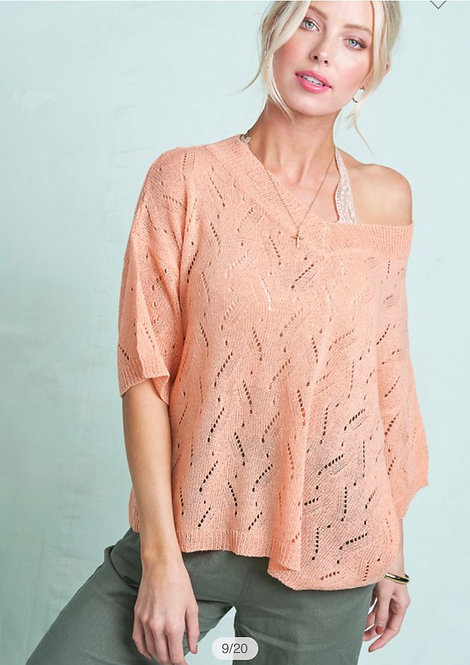 Light Summer Sweater - Coral