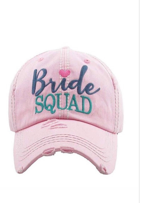 Bride Squad Baseball Hat - Light Pink