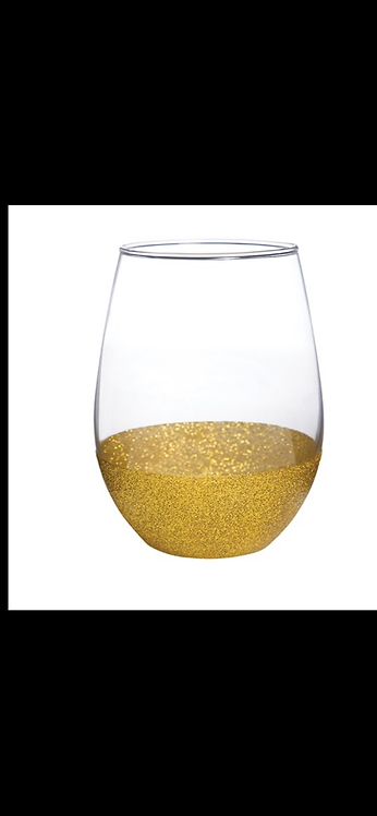 Stemless Wine Glass - Gold