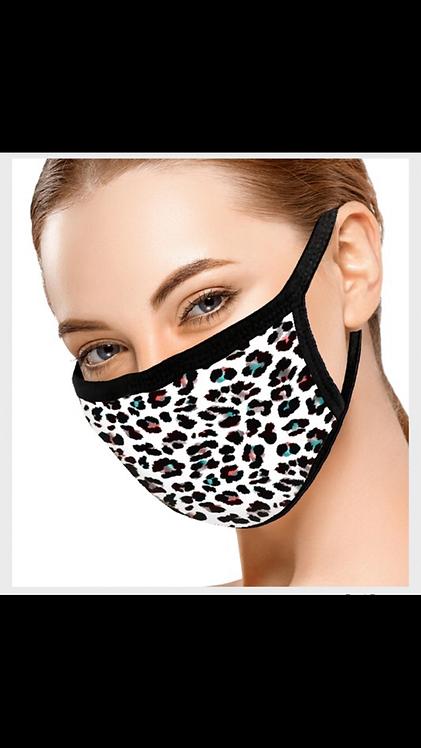 Multi Leopard Face Mask