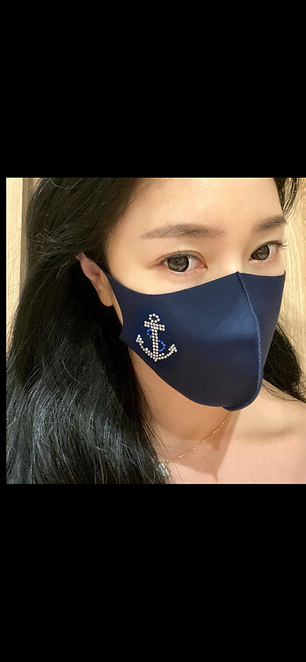 Bling Anchor Mask - Black