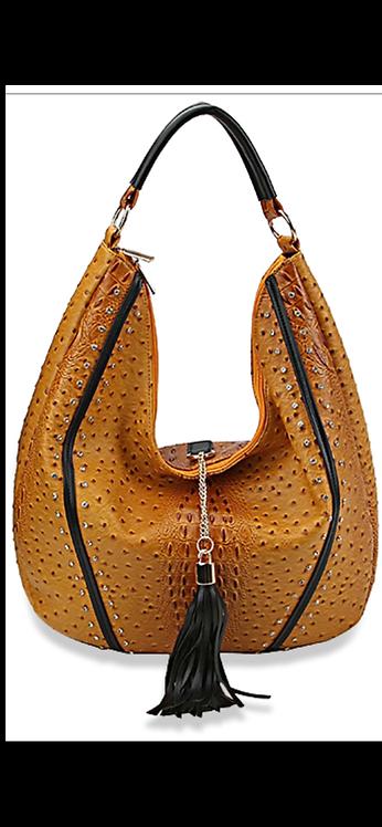 Mustard Bling Hobo Handbag