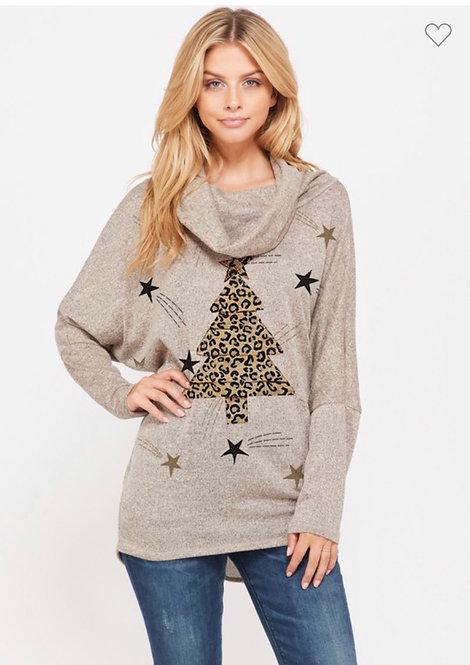 Leopard Christmas Tree Sweater