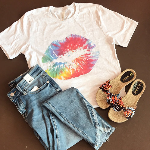 Tie Dye Lips Graphic Tee