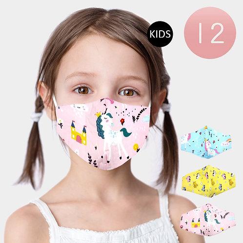Adjustable Kids Mask - Unicorns