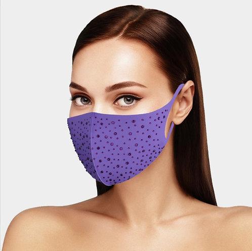 Tone on Tone Bling Mask - Purple