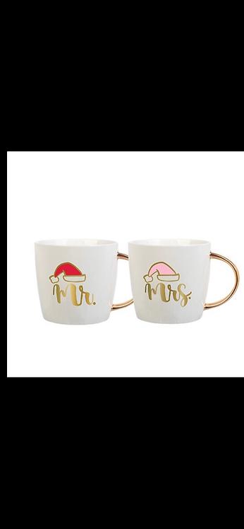 Santa Coffee Mug Set