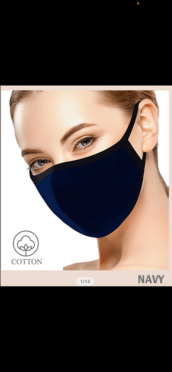 Solid Face Mask - Navy