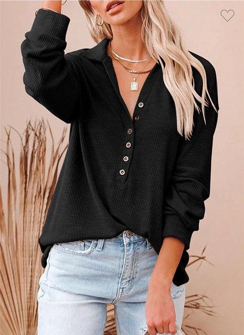 Button Collar Thermal - Black
