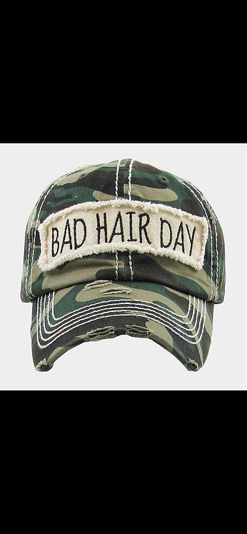 Bad Hair Day Baseball Hat - Camo