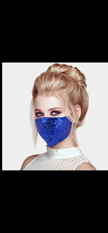 Sequin Adjustable Mask - Royal Blue