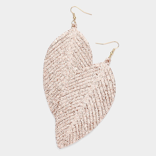 Feather Sparkle Dangle - Rose Gold