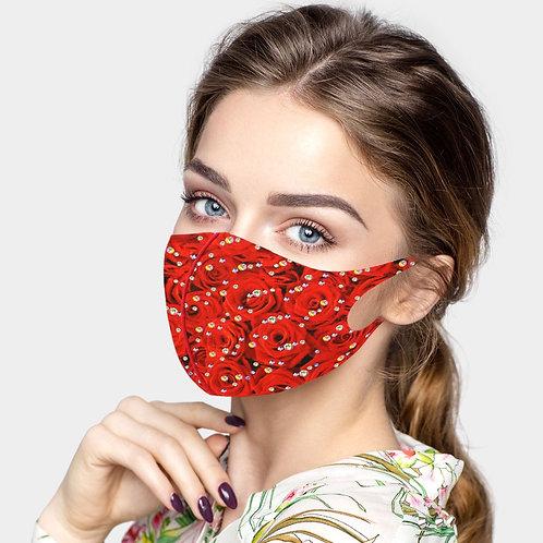 Valentine's Bling Mask - Red Roses