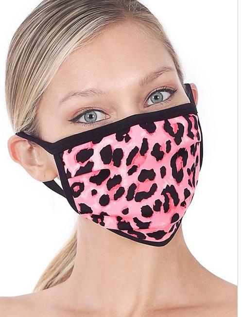 Leopard Mask - Pink
