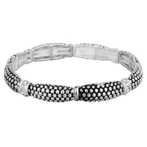Casual Stretch Bracelet - Silver