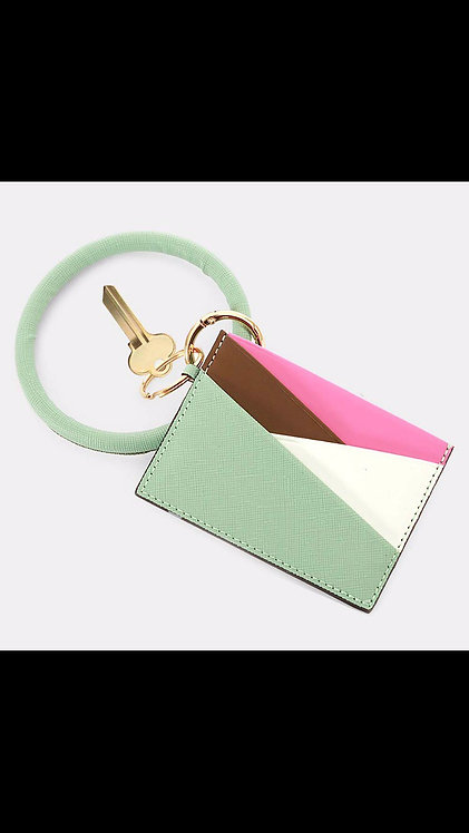 Key Ring Card Holder - Mint