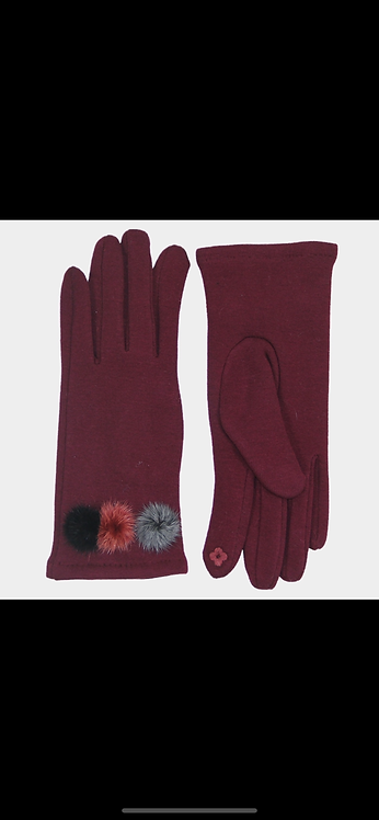 Poof Glove - Burgundy