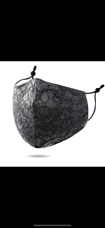 Black Lace Adjustable Mask