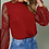 Thumbnail: Burgundy Lace Sleeve Blouse