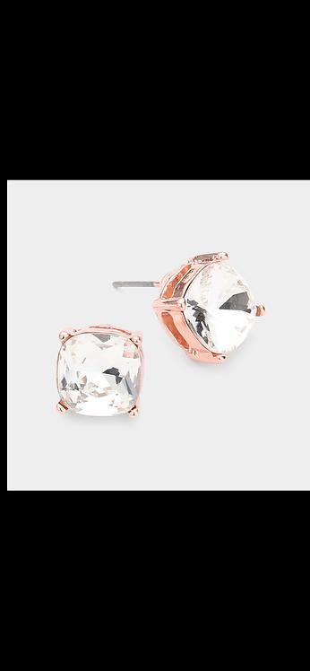 Stud Earrings - Rose Gold