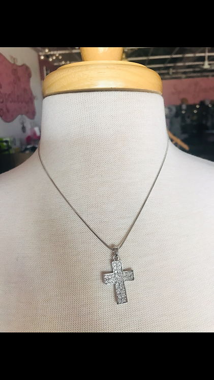 Double Row Bling Cross