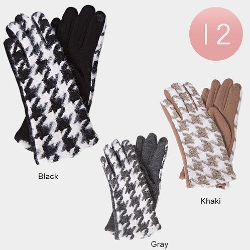 Houndstooth Gloves