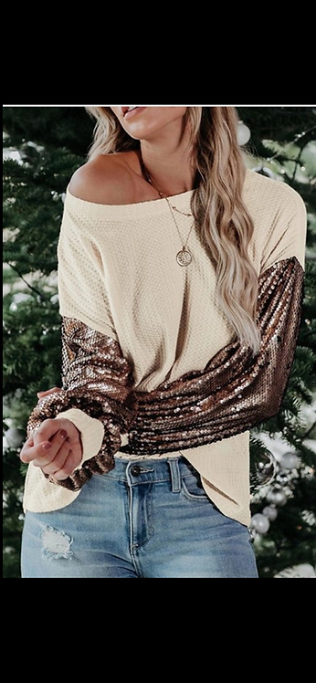 Sequin Arm Waffle Thermal