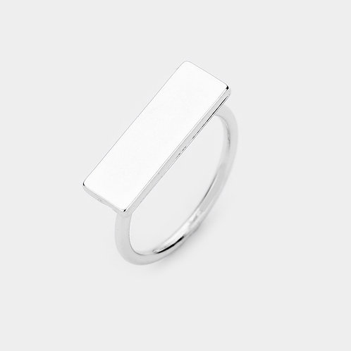 Metal Bar Ring - Silver