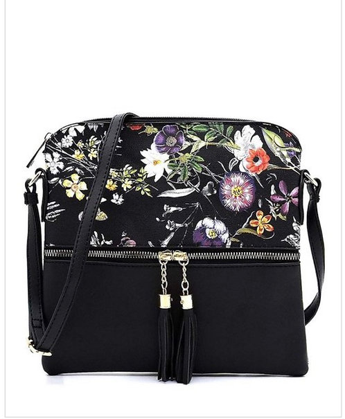 Two Tone Floral Messenger