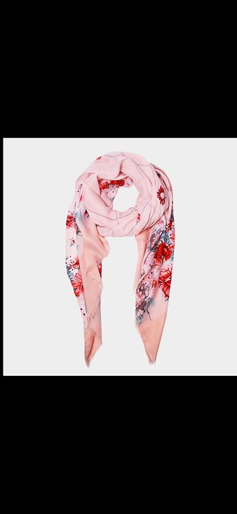 Floral Sparkle Scarf - Pink