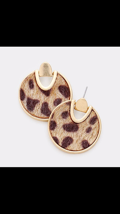 Small Leopard Dangle - Taupe