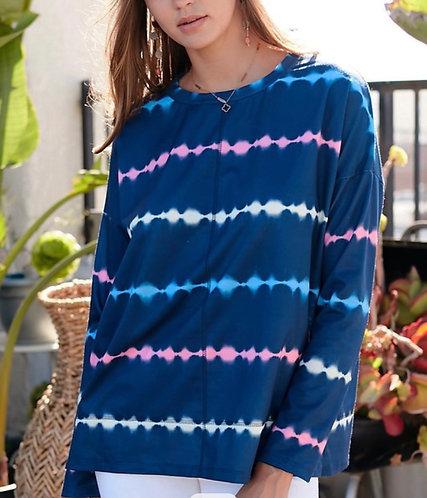 Tie Dye Stripe Sweatshirt