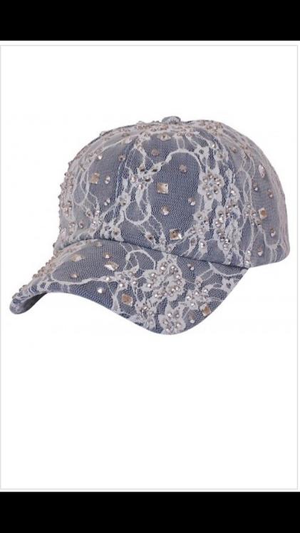 Denim Sparkle Baseball Hat