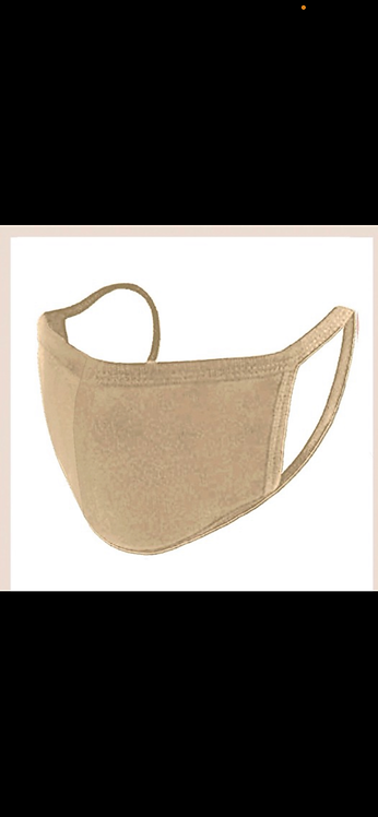 Solid Face Mask - Khaki