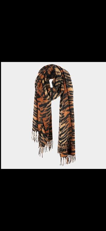 Tiger Fleece Scarf - Brown
