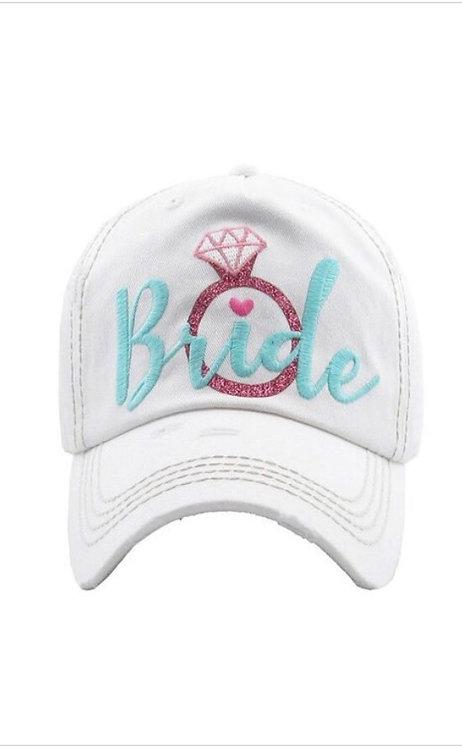 Bride Baseball Hat - Light Blue