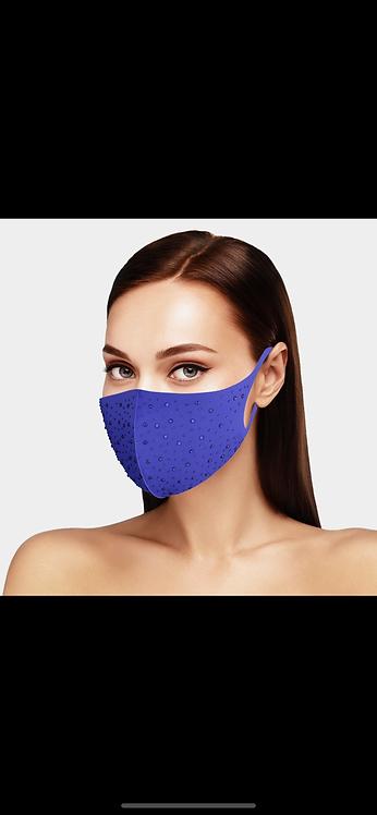 Tone on Tone Bling Mask - Royal Blue