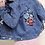 Thumbnail: Distressed Floral Denim Jacket