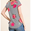 Thumbnail: Floral Stripe Short Sleeve